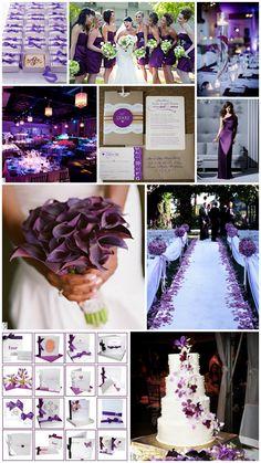 Purple Wedding... cute colors!