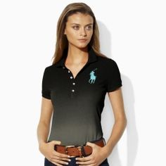 Dip-Dyed Big Pony Polo - Blue Label Polos - RalphLauren.com