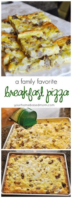 Breakfast Pizza has been a family favorite at our house for year.  So fun having pizza for breakfast!