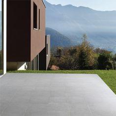 Bradstone Mode porcelain floor tiles Dark Grey Textured 600 x 600 paving slabs x 20 60 Per Pack Paving Slabs, Paving Stones, Back Gardens, Patio Design, Dark Grey, Natural Stones, Tile Floor, Concrete, Sidewalk