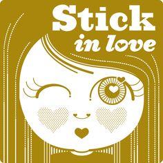 Maria Iglesias #threefivefifty #03 #sticker #3550 #design #ilustration #gold  #street #art #barcelona Stuck In Love, Street Art, Barcelona, Stickers, Gold, Design, Barcelona Spain, Writers