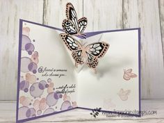 Pop Up Card Replay - Frenchie Stamps Paper Crafts - The Ultimate Craft Ideas Paper crafts had been v 3d Cards, Pop Up Cards, Pop Up Greeting Cards, Easel Cards, Fancy Fold Cards, Folded Cards, Card Making Tutorials, Making Ideas, Butterfly Cards Handmade