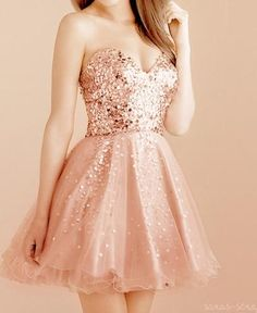 sparkly nude pink dress! <3