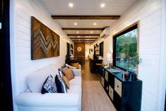 The Helm CargoHome Shipping Container Tiny House Vacation in Waco Texas 002 Tiny House Shipping Container, Building A Container Home, Container Cabin, Container House Design, Tiny House Design, Tiny House Luxury, Used Shipping Containers, Tiny House Living, Home Living Room