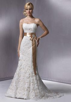 This was almost my wedding gown until I tried on a similar one that cost more than twice as much. :)
