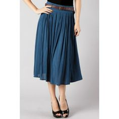 This is a cute blue skirt. I believe that if a skirt goes below your knees, then it's perfectly modest. :)