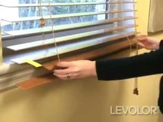 How to Shorten Blinds Video - Levolor Wood and Faux Wood Blinds - Blinds.com DIY - YouTube