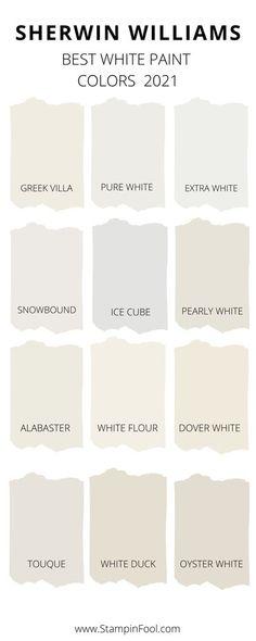 Off White Paint Colors, Cream Paint Colors, White Wall Paint, Best White Paint, Off White Paints, Wall Paint Colors, Paint Colors For Home, Off White Colour, Cabin Paint Colors