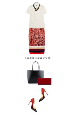 """Senza titolo #1113"" by baboushkacouture ❤ liked on Polyvore featuring moda, Missoni, Cédric Charlier, Marni, Christian Louboutin, Yves Saint Laurent, Jimmy Choo, WorkWear, chic y Work"