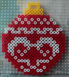 Christmas bauble hama perler beads by Les loisirs de Pat