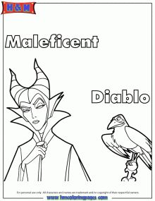 coloring Page Disney's Maleficent Free Printables, crafts and coloring pages | SKGaleana
