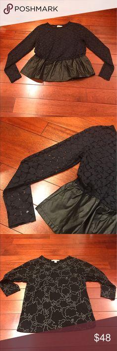 💋four top bundle: print, leather, crochet Asos, forever 21, h&m ASOS Tops Tees - Long Sleeve