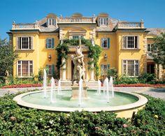 Rod Stewart's yellow stucco Palm Beach mansion...