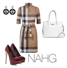 """NAHG"" by nicole-hill-gutierrez on Polyvore featuring moda, Brooks Brothers, Burberry, Giuseppe Zanotti y Chanel"