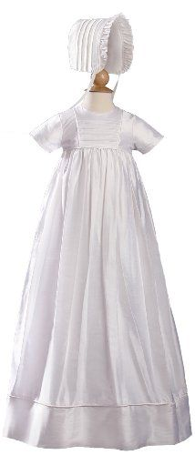 Short Sleeve Silk Dupioni Christening Baptism Family Gown $278.00 - $309.00