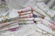 Surprise Mystery Embroidered Pillow case.Grab bag Vintage Bed and Breakfast Embroidered pillowcases. Aunties Collection pillowcases