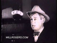 "Will Rogers - his ""Bacon, Beans, and Limousines"" speech from 1931 during the height of the Great Depression. (willrogers.com)"