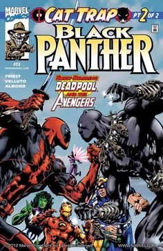 Black Panther Vol 3 #23 // Deadpool Vol 1 #44 (2000)Black Panther Vs Deadpool Story: Christopher Priest, art: Mark Bright, cover: Chriscross Get it now here[ Follow SuperheroesInColor on facebook /...