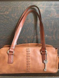 Fossil Vintage Brown Shoulder Purse Satchel Bag | eBay