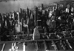 1961 Aerial of Lower Manhattan. The city of my birth the year I was born.