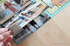 DIY flip page for adding extra pictures to a scrapbook page