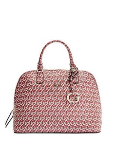 c75a164a132c GUESS Womens G Cube Dome Satchel Crimson Satchel   Read more reviews of the  product by visiting the link on the image.