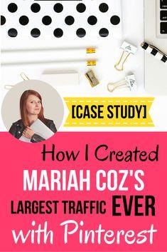 Case Study: How I created Mariah Coz's highest website traffic month ever with… Inbound Marketing, Marketing Digital, Affiliate Marketing, Online Marketing, Social Media Marketing, Business Marketing, Content Marketing, Branding, Wordpress
