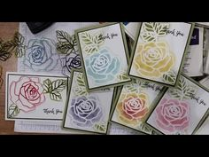 Rose Garden stencil for cardmaking! - YouTube
