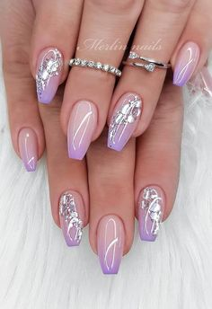 Sparkle Nails : Sparkle Nails The best nail art photos using Gelish nail polish and gel With Beautiful Design For Your Nails Get Here Picture Credit day nails gel sparkle Funky Nail Designs, Square Nail Designs, Pretty Nail Designs, Pretty Nail Art, Nail Art Designs, Sparkle Nail Designs, Elegant Nails, Stylish Nails, Funky Nails