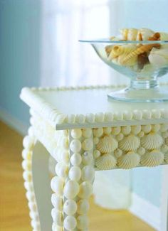 Did you know that covering things with shells is a practice called Coquillage? Here are some examples of beautiful coquillage shell decor.