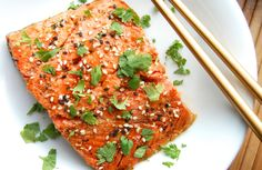 Asian Salmon With Honey Glaze