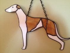 My stained glass greyhound
