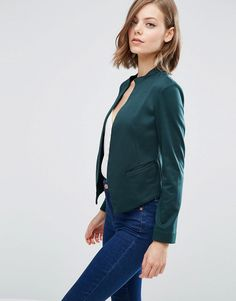 Browse online for the newest ASOS Edge to Edge Ponte Blazer with Pocket styles. Shop easier with ASOS' multiple payments and return options (Ts&Cs apply). Green Blazer, Blazer Jacket, Green Jacket, Asos, Blazers For Women, Jackets For Women, Women's Blazers, Blazer Outfits, Work Outfits