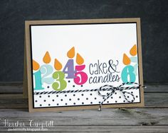 Heather Campbell for Avery Elle using Cake & Candles stamps, Count on it dies, and Texture Tiles Be Cute stamp set.