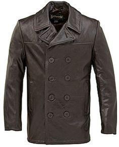 Schott Cowhide Pea Coat