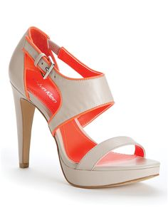 Calvin Klein Open Toe Platform Sandals - Leahanna High Heel | Bloomingdale's