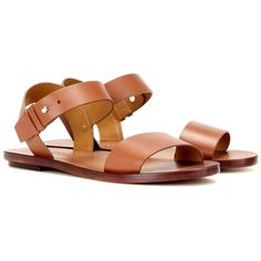 Polo Ralph Lauren Jaime Leather Sandals ($174) ❤ liked on Polyvore featuring shoes, sandals, brown, brown leather sandals, polo ralph lauren sandals, polo ralph lauren footwear, brown shoes and leather sandals