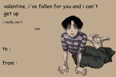 Discovered by いずみ. Find images and videos about manhwa, killing stalking and valentines card on We Heart It - the app to get lost in what you love. Funny Anime Pics, Anime Meme, Anime Guys, Valentines Anime, Funny Valentines Cards, Fb Memes, Funny Memes, Anime Pick Up Lines, Killing Stalking Memes