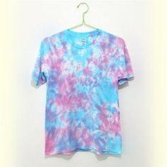 Blue Color Tie Dye T Shirt