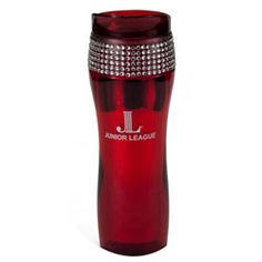 $13 - Tumbler - Red w/ Rhinestone Accent - #3937 BACKORDERED