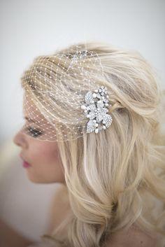 Wedding Birdcage Veil with Comb