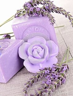 Lavender soap - but I really like the rose pattern Lavender Cottage, Lavender Soap, Lavender Blue, Lavender Fields, Lavender Flowers, Purple Flowers, French Lavender, Purple Love, All Things Purple