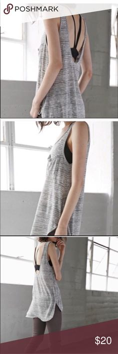 PacSun Gray Open Back Tunic Tank PacSun super soft super cute open back . Long gray open Back . Size XS but would fit ( I Believe ) a medium . Bought from another wonderful Poshers Closet but I'm 57 and think it's a bit too cool for me . See I still use the word cool . NWT simply because I was going to wear it . PacSun Tops Tank Tops