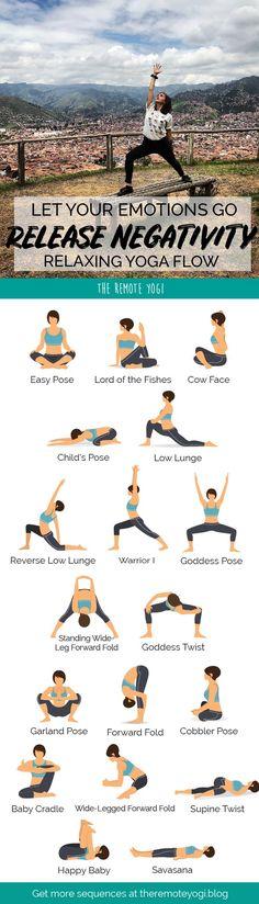 Let Your Emotions Go Release Negativity Relaxing Yoga Flow Yoga Flow Sequence, Yoga Sequences, Yin Yoga, Yoga Meditation, Sport, Relaxing Yoga, Restorative Yoga, Yoga Poses For Beginners, Yoga Routine
