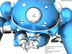 Tachikoma.  WOBOTS THAT WOCK!   Actually my favourite robot, os the Tachikoma from Ghost In The Shell. The think Tanks of the future. :3
