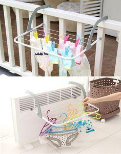 Foldable Balcony Bathroom Cloth Towel Shoes Hanger Drying Rack Rod16060203