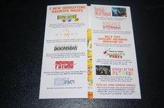 1999 EVENT GUIDE Universal Halloween Horror Nights (11/05/2010)