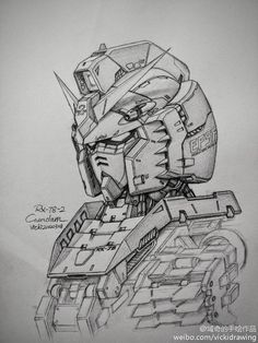 gundam+pencil+drawing+sketch+(1).jpg (1024×1365)