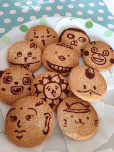 スイーツ:ゆるキャラクッキー Cute Cookies, Sweet Recipes, Cookie Cutters, Sweets, Desserts, Kawaii, Food, Happy, Cooking