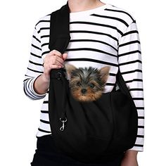 3705ee83a1a TOMKAS Small Dog Cat Carrier Sling Hands-Free Pet Puppy Outdoor Travel Bag  Tote Reversible